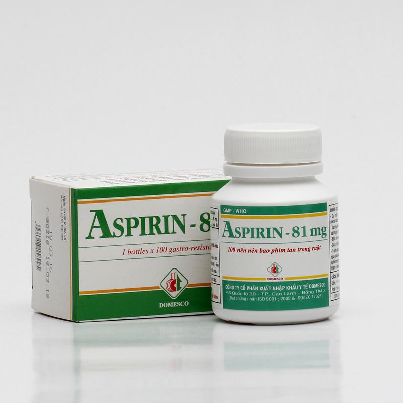 Thuốc Aspirin 81mg là thuốc gì? Tác dụng và liều dùng
