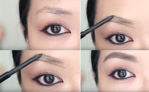 Cách vẽ lông mày vòng cung